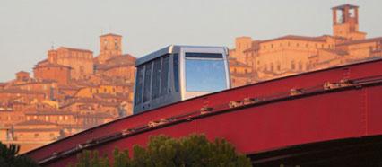 A Perugia gli sposi vanno in minimetrò