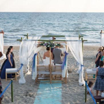 Matrimonio in spiaggia al Nautin Club – Fiumicino